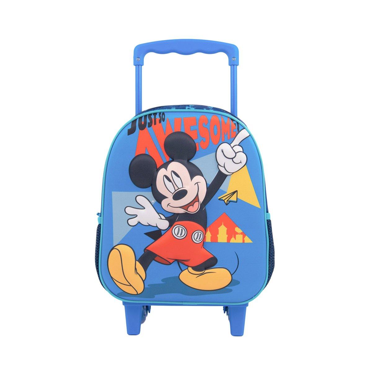 Ghiozdan tip troler Disney Mickey Mouse, 3D, Mic