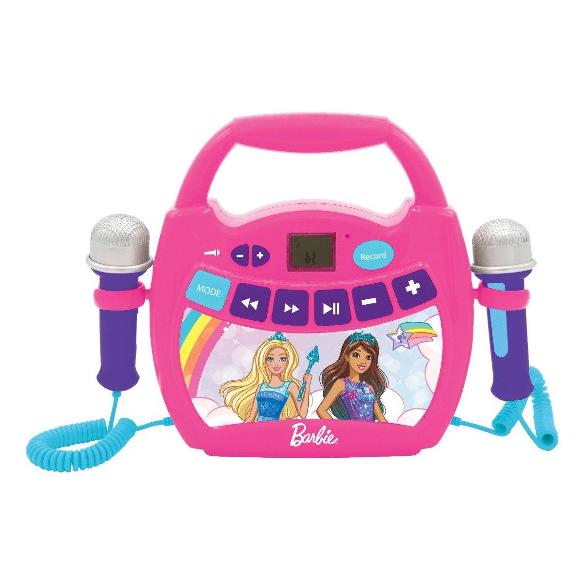 Primul meu Karaoke portabil cu 2 microfoane Barbie