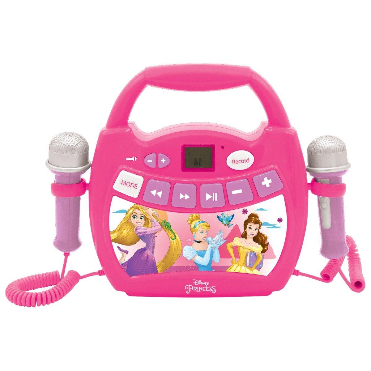 Primul meu Karaoke portabil cu 2 microfoane Disney Princess