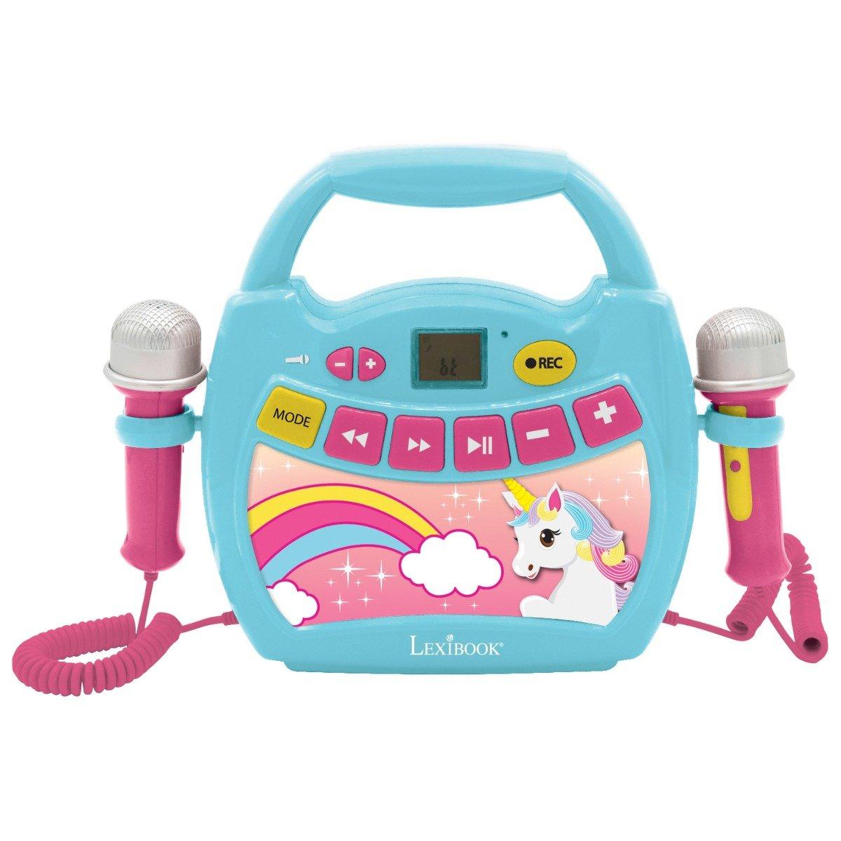 Primul meu Karaoke portabil cu 2 microfoane Lexibook, Unicorn
