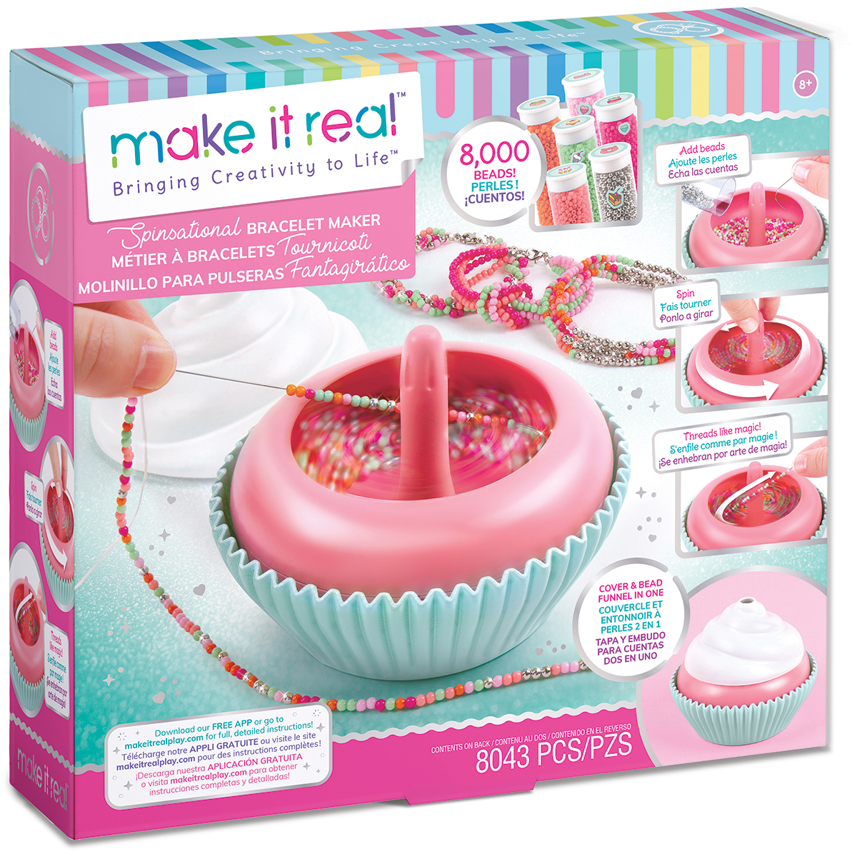 Set Make It Real, Bratari, Sweet Girls Spinsational, 8043 piese