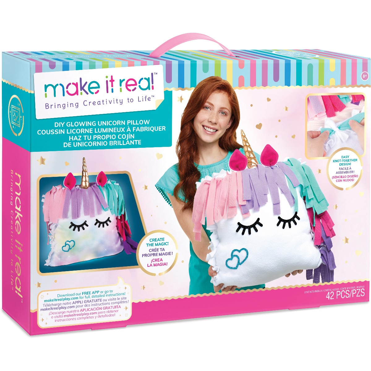 Set de creatie Make It Real, Pernuta luminoasa Unicorn