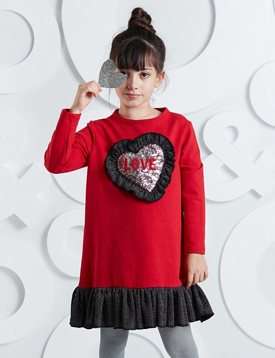 Rochie cu maneca lunga Heart Shape Mushi