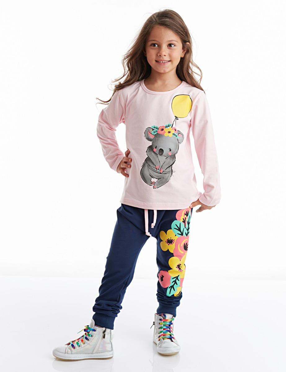 Set tricou cu maneca lunga si pantaloni sport Koala Baloon Mushi imagine 2021