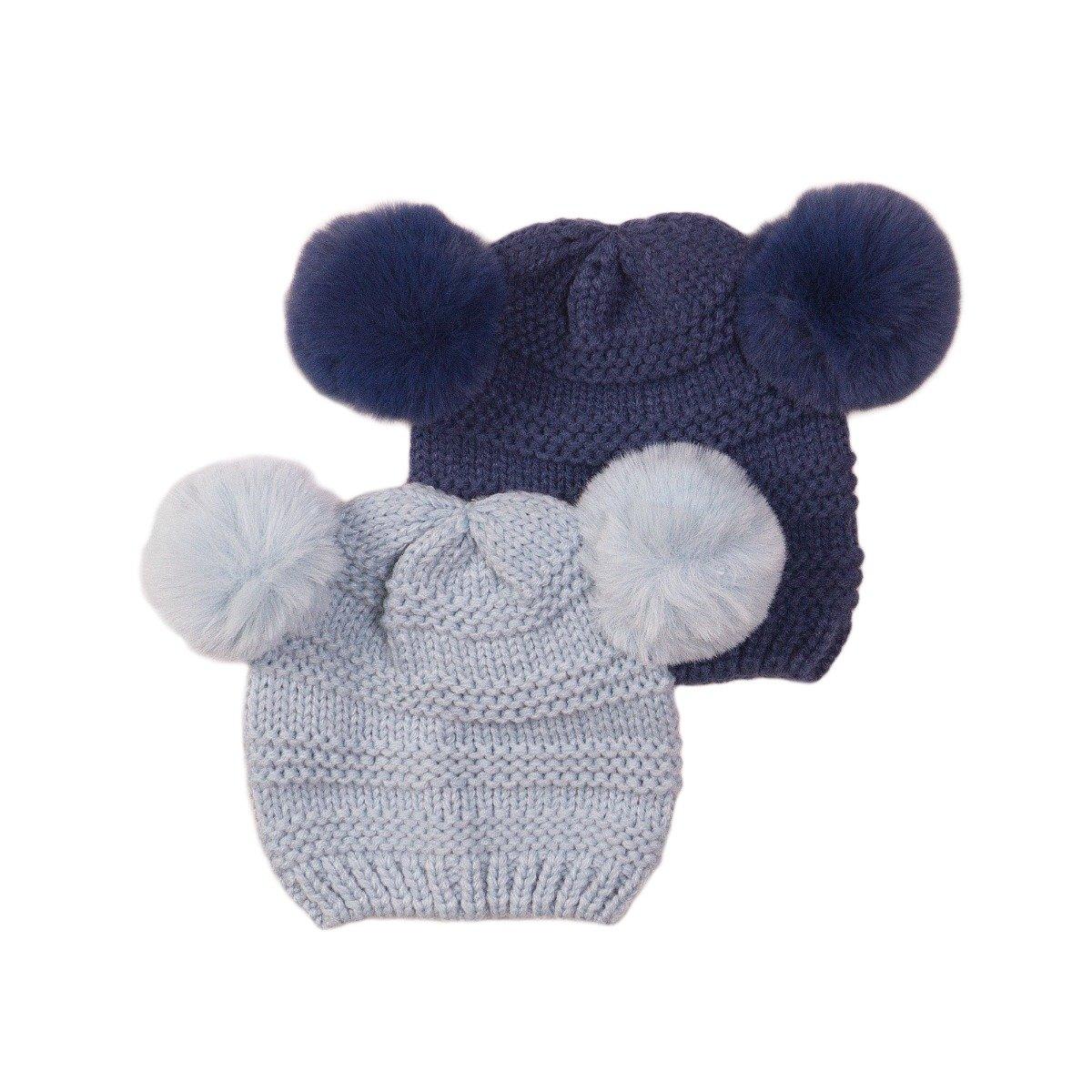 Set caciuli tricotate bleu/ bleumarin Minoti Nbb Hat imagine 2021