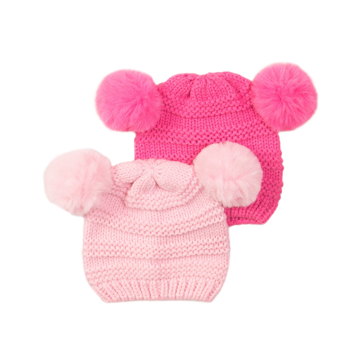 Set caciuli tricotate roz deschis/roz inchis Minoti Nbg Hat imagine