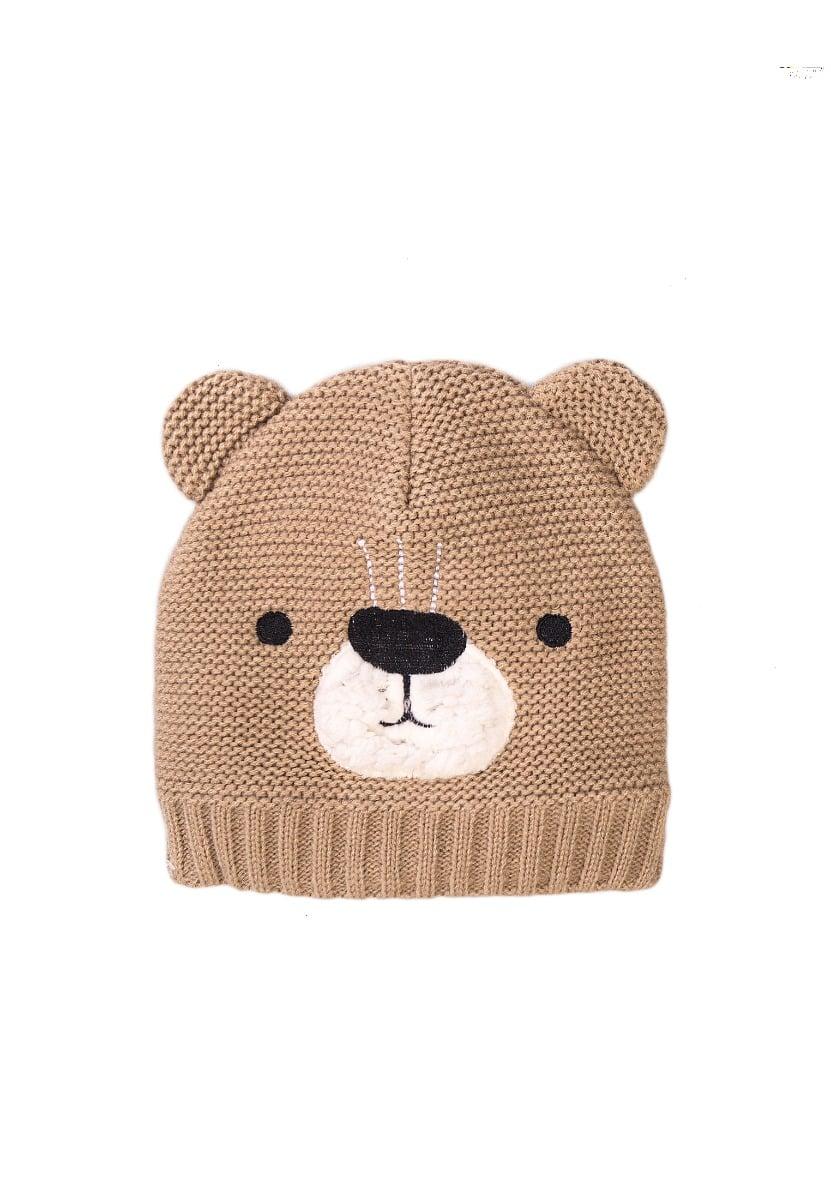 Caciula tricotata dublata cu fleece Minoti, NBU HAT, Bear