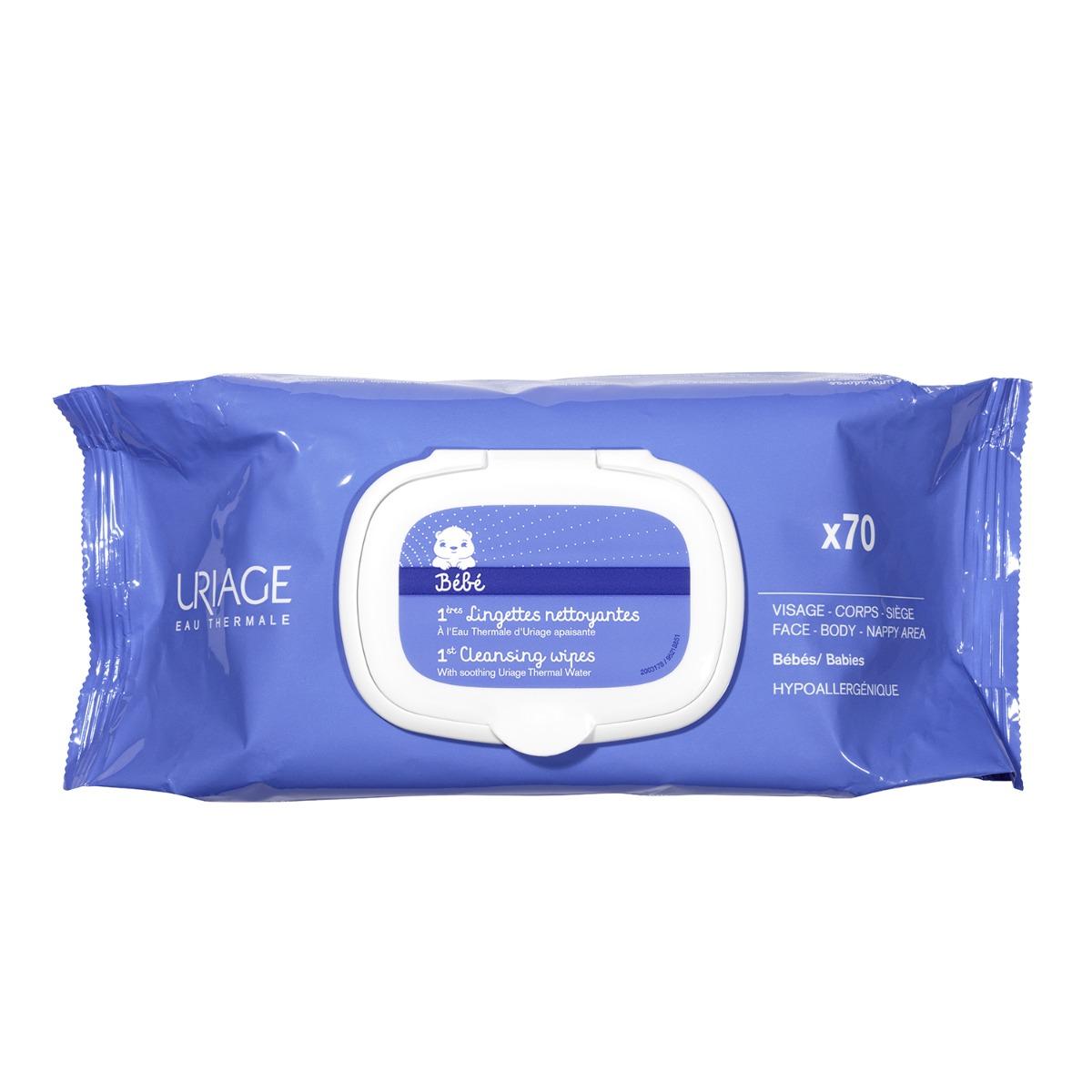 Servetele pentru bebelusi cu apa termala Uriage 1ER Bebe, 70 buc. imagine