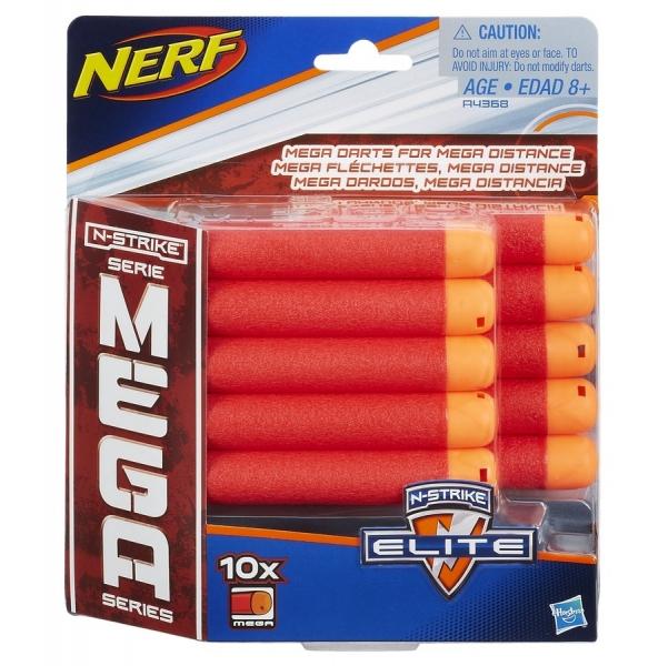 nerf n-strike elite mega - 10 proiectile