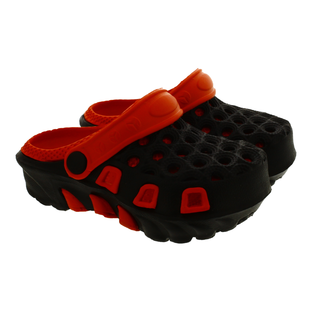 Papuci de exterior, Negru