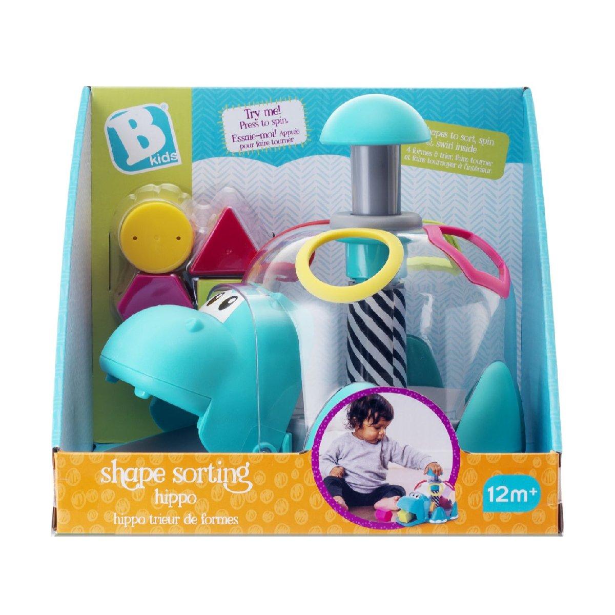 Jucarie Pentru Bebelusi, B Kids, Hipopotam Forme Geometrice