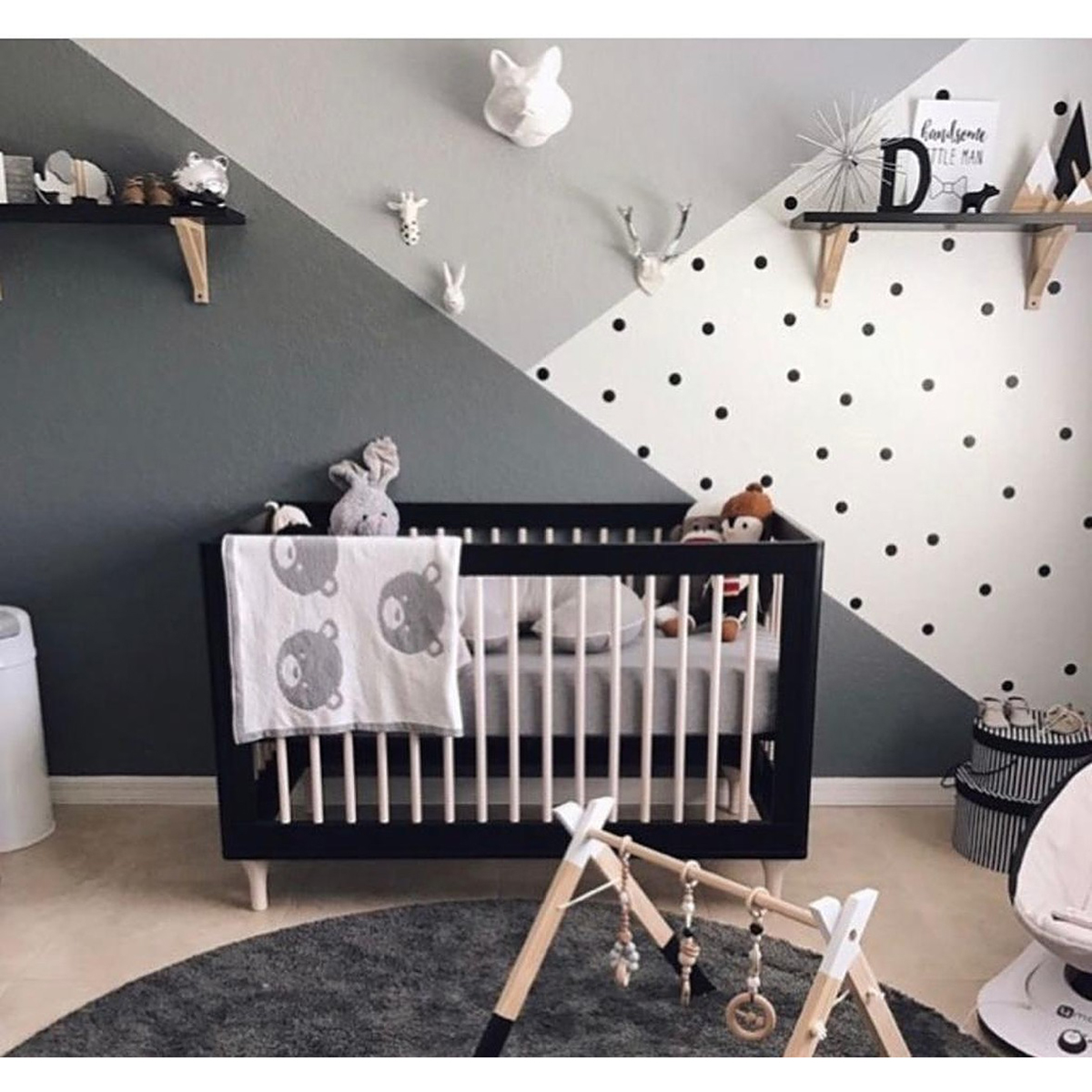 Patut bebe Home Concept, Negru imagine