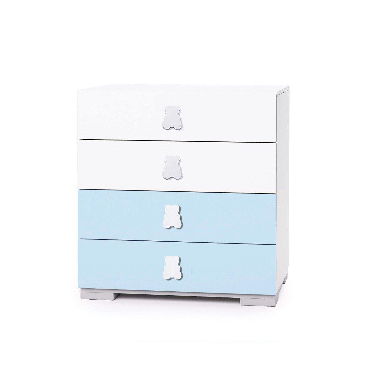 Comoda Home Concept, Bleu, 4 sertare imagine