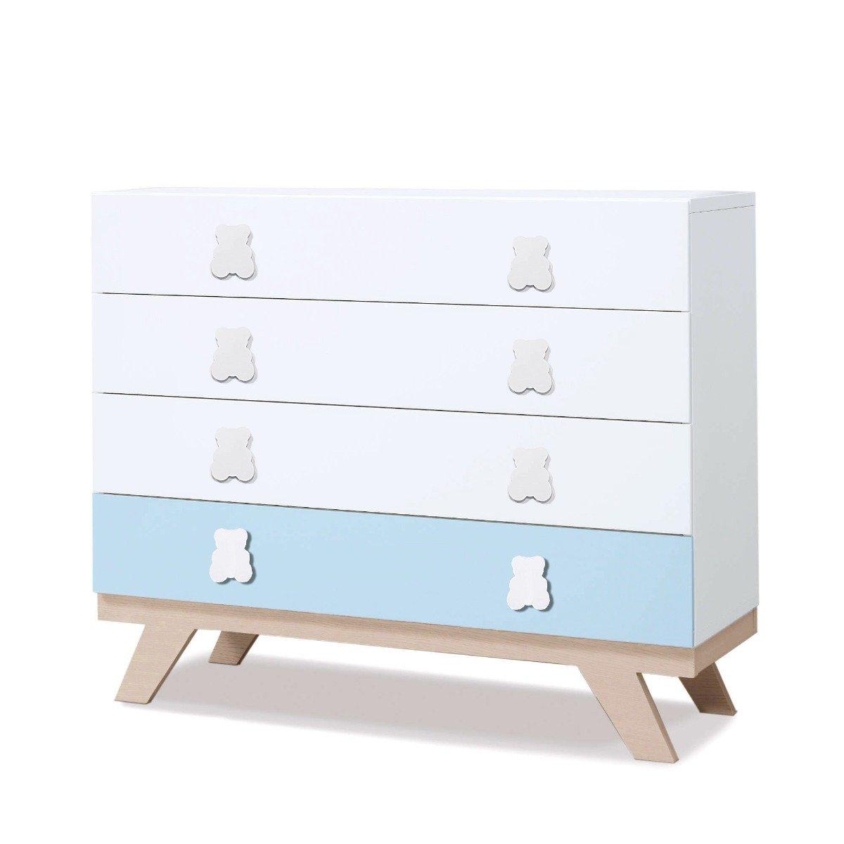 Comoda Home Concept, Blue, 4 sertare imagine