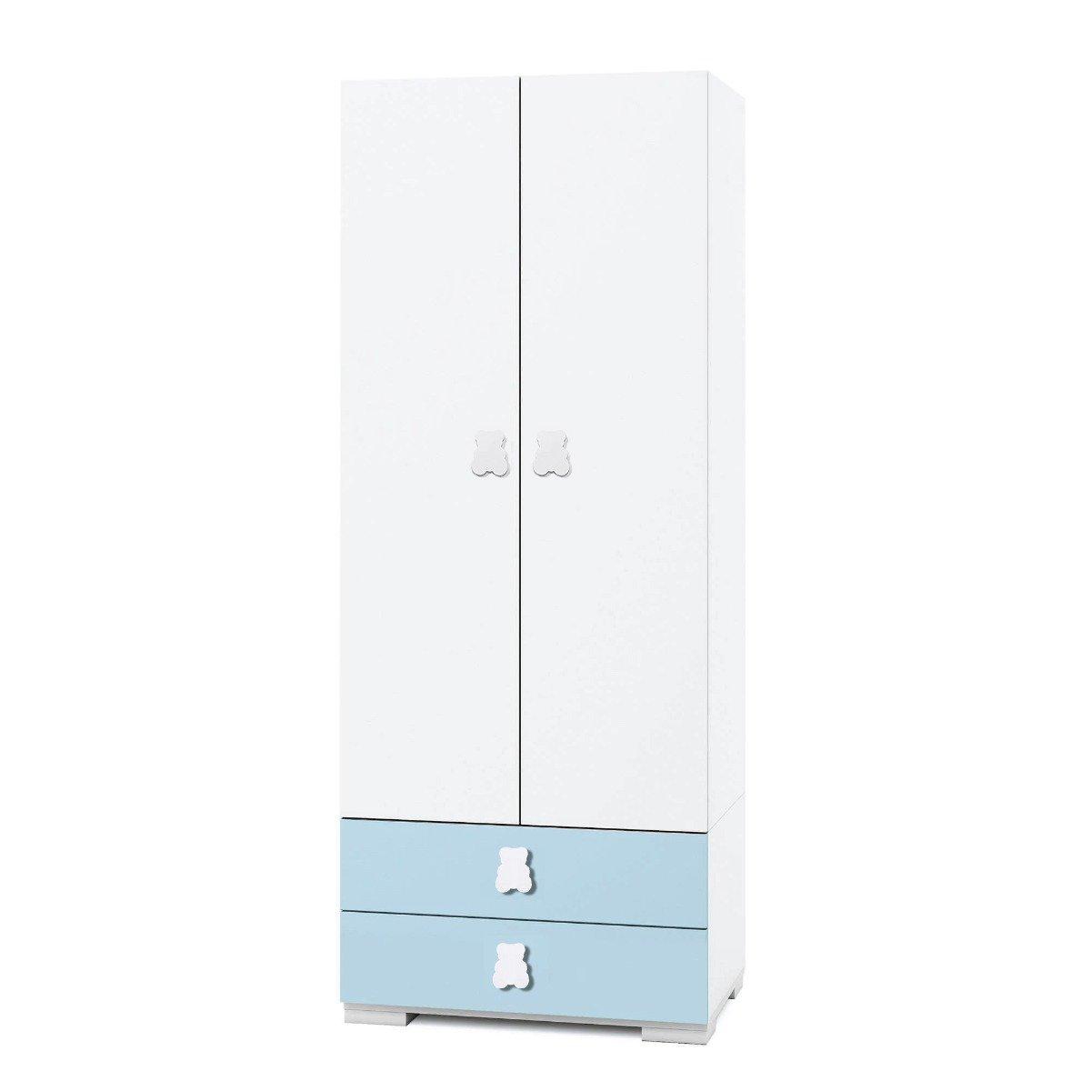 Dulap Home Concept, Bleu, 2 usi + 2 sertare imagine