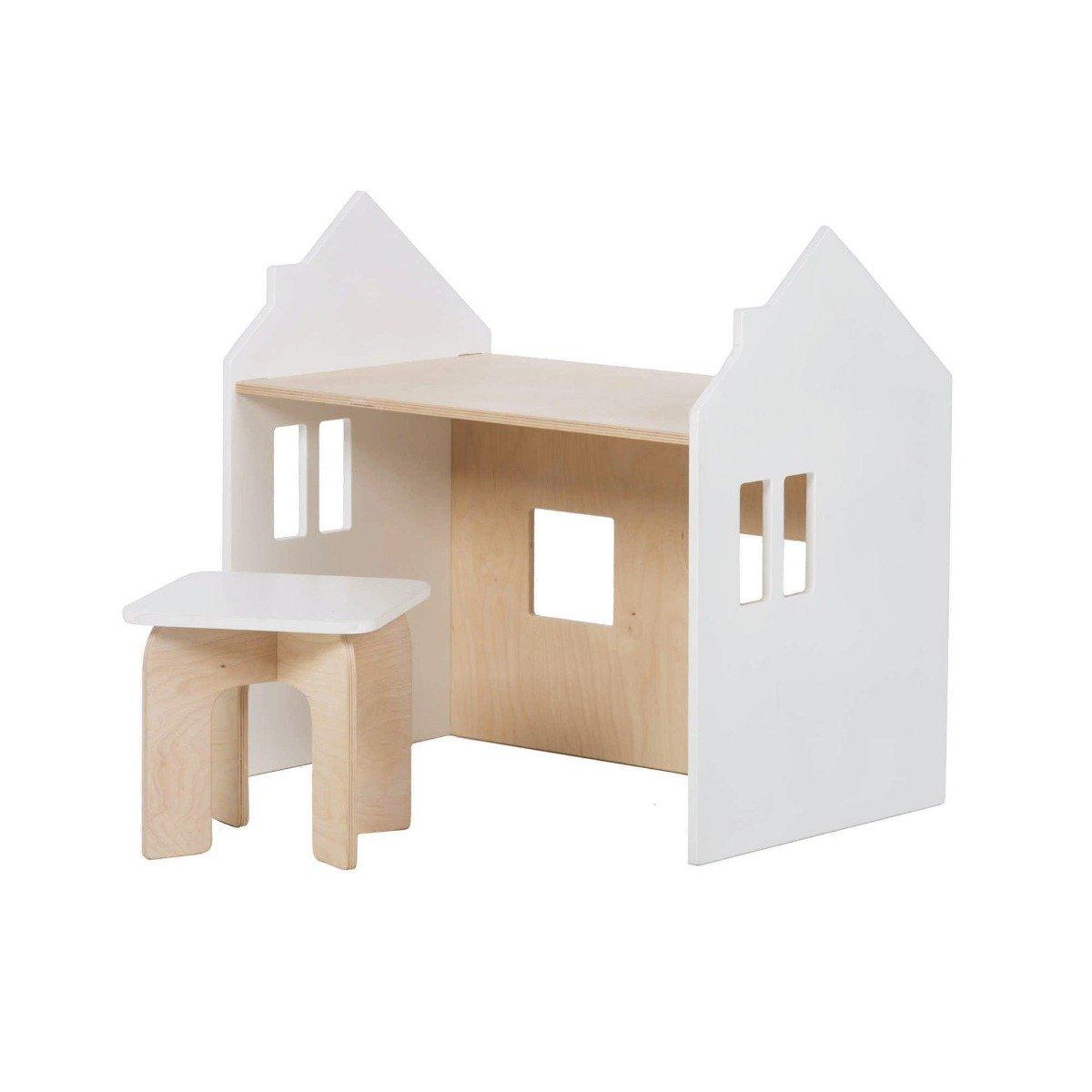 Set birou si scaunel Home Concept, Alb