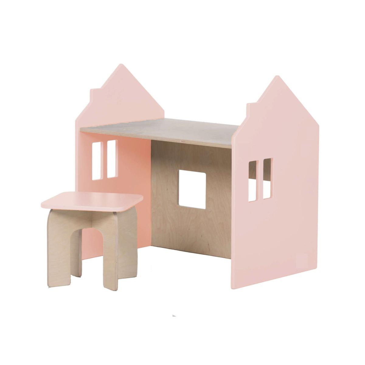Set birou si scaunel Home Concept, Roz imagine