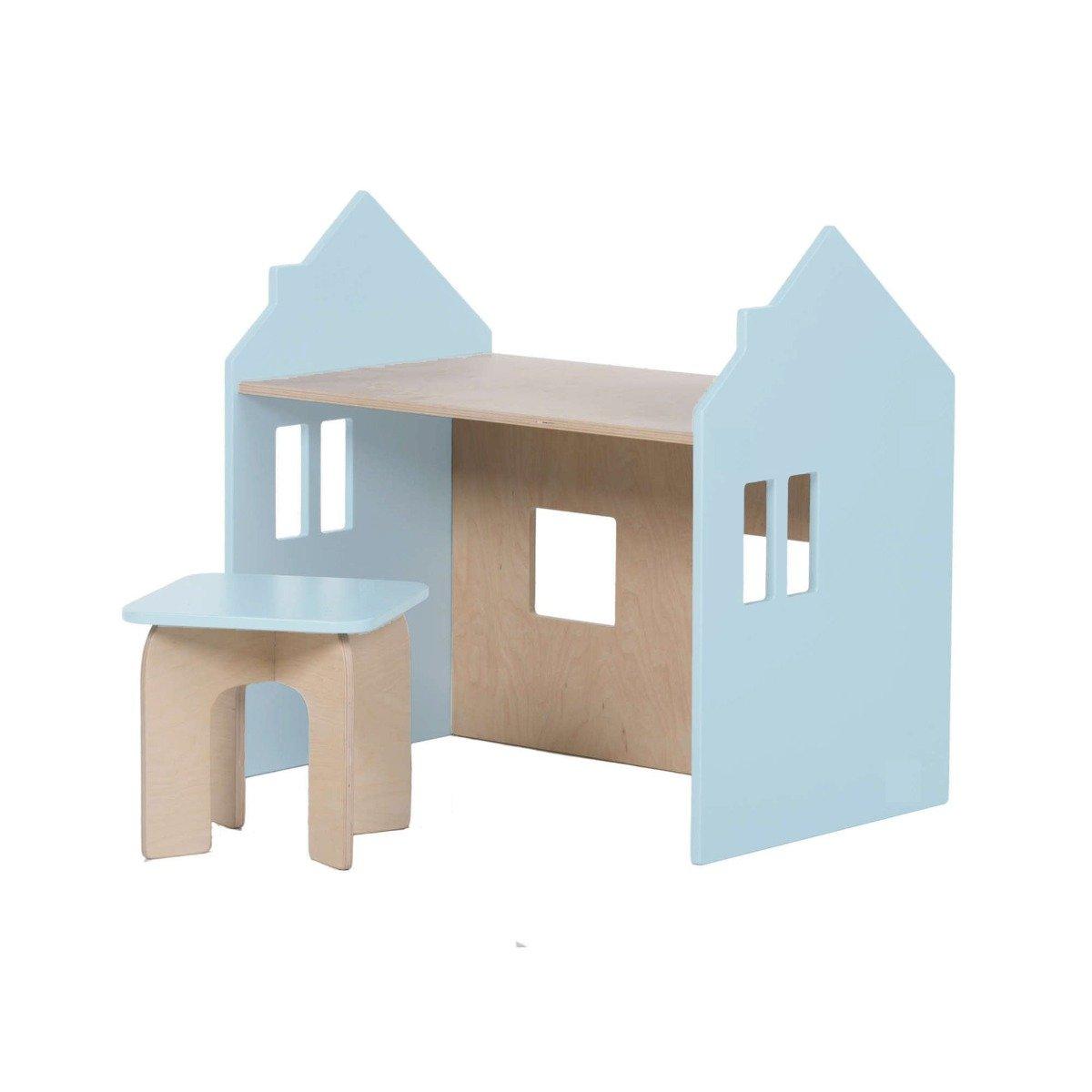 Set birou si scaunel Home Concept, Bleu