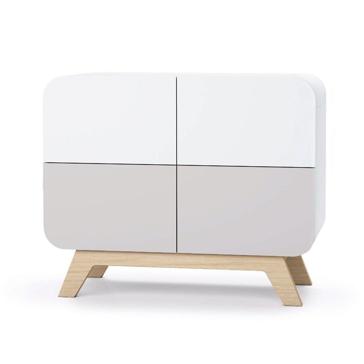 Comoda cu colturi rotunjite Home Concept, Gri imagine