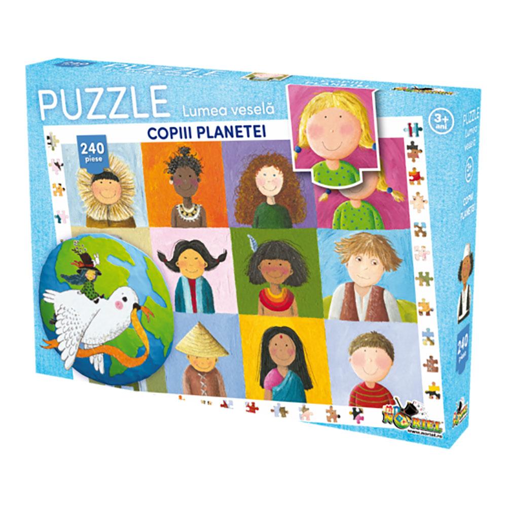 puzzle noriel lumea vesela - copiii planetei (240 piese)