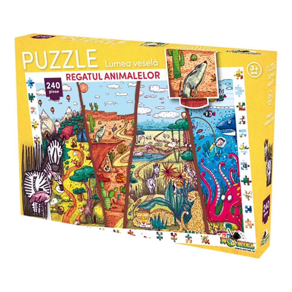 puzzle noriel lumea vesela - regatul animalelor (240 piese)