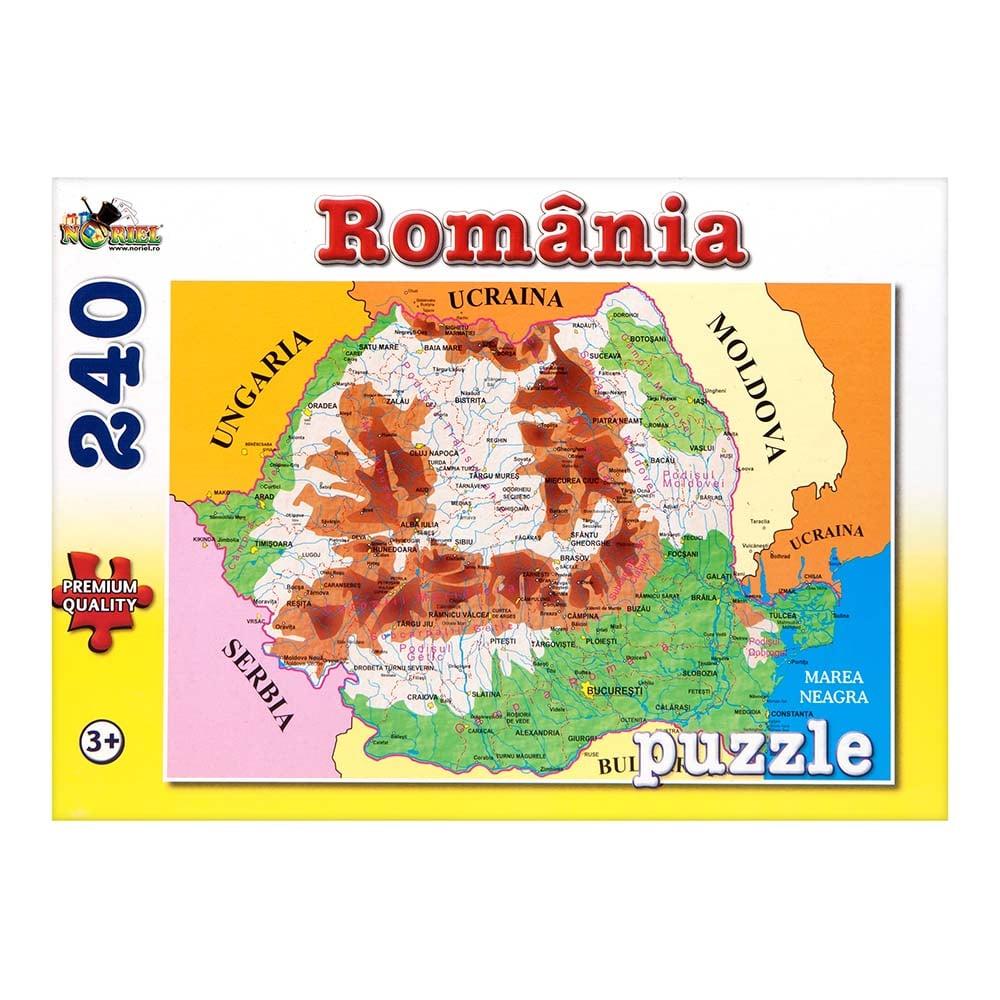 puzzle noriel - harta romaniei, 240 piese