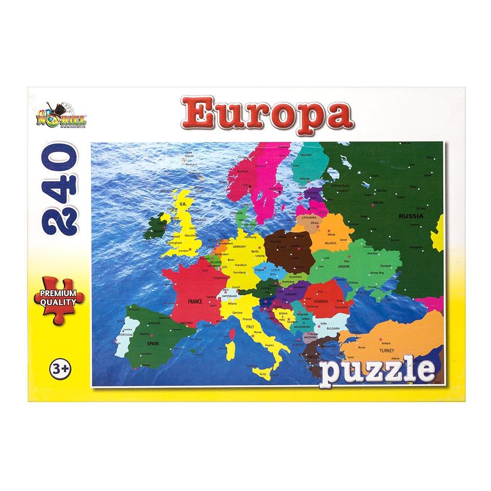 puzzle noriel harta europei, 240 piese