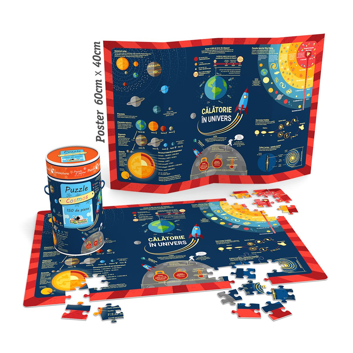 Puzzle Cunoastere Noriel - Calatorie in univers, 150 piese