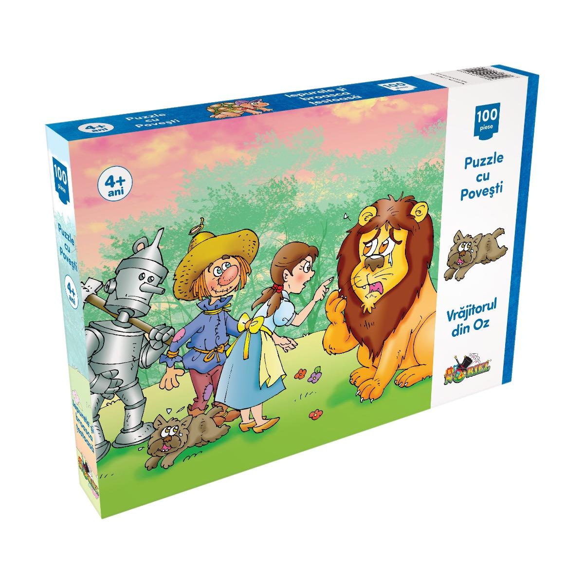 Puzzle Noriel cu povesti - Vrajitorul din Oz, 100 Piese