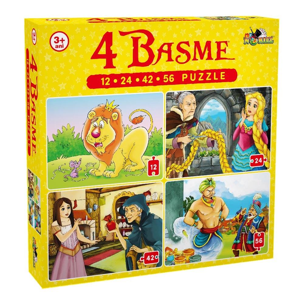 Puzzle Noriel - 4 basme (12, 24, 42, 56 piese)