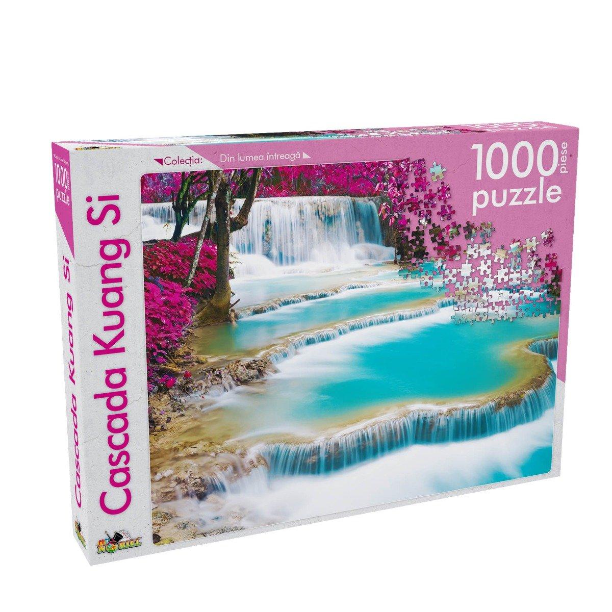 Noriel Puzzle - Din Lumea Intreaga - Cascada Kuang Si, 1000 Piese