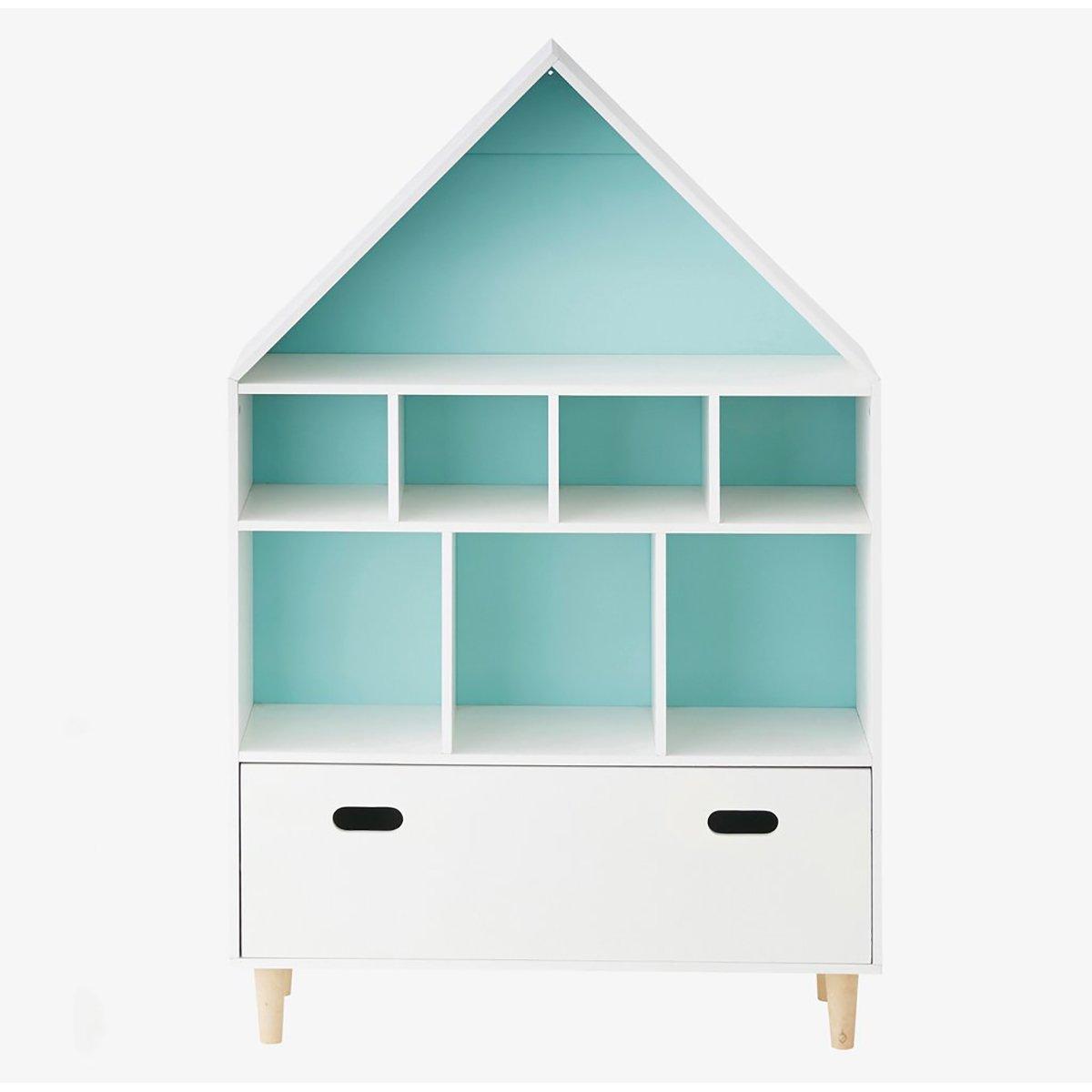 Biblioteca Home Concept Sugar, Bleu imagine