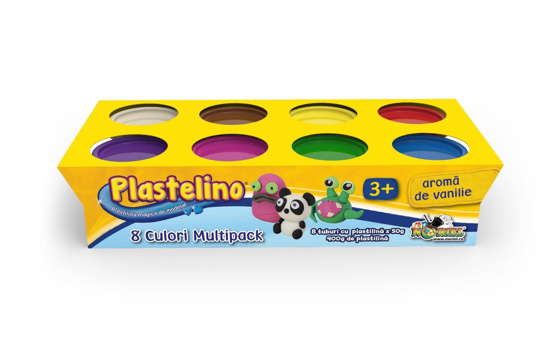 Noriel Plastelino - Multipack 8 culori imagine