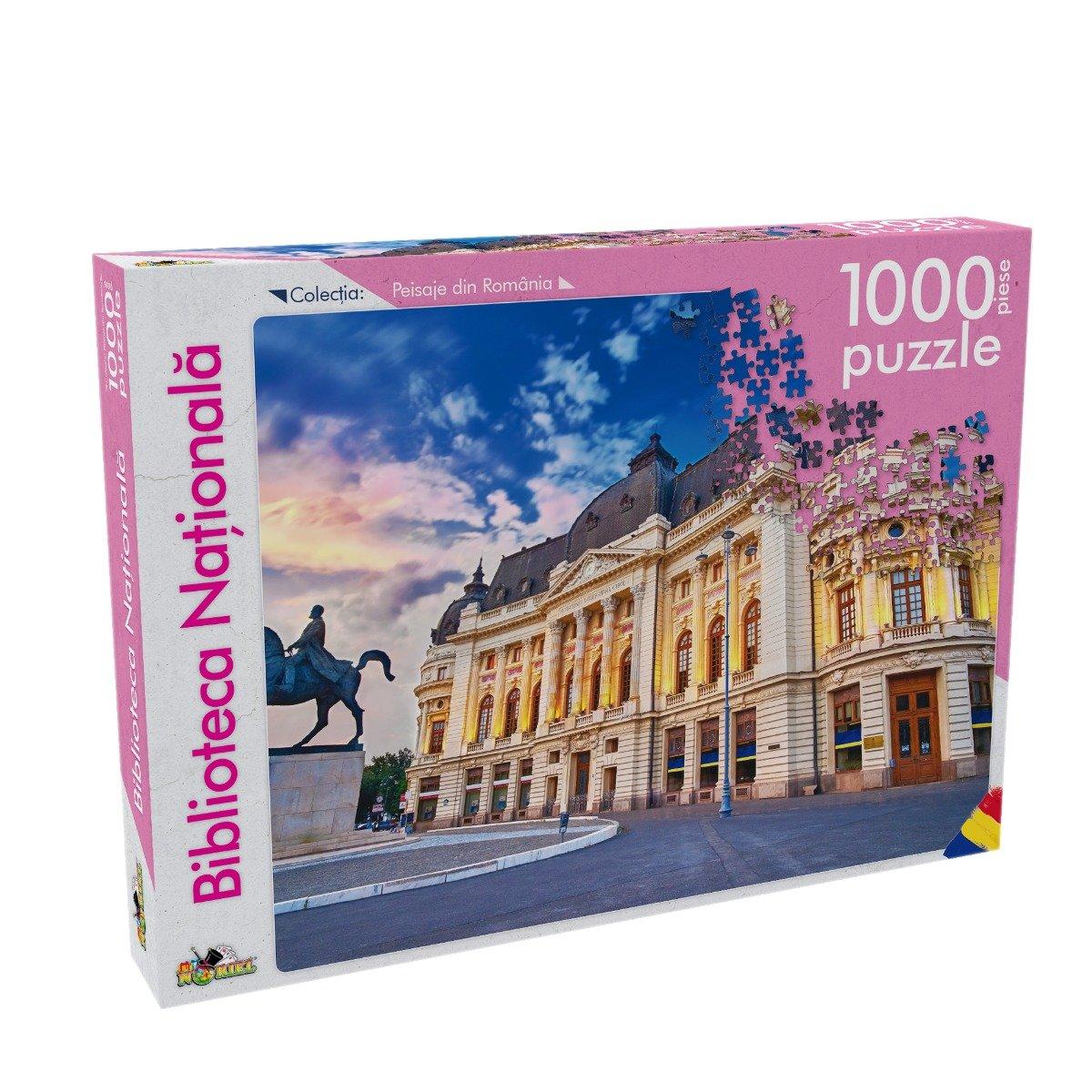 Puzzle Noriel - Peisaje din Romania - Biblioteca Nationala, 1000 Piese