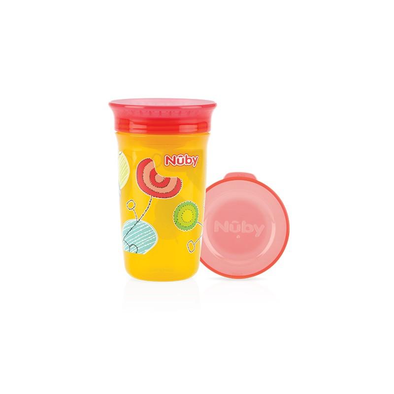 Nuby Wonder cup 360 decorat 300ml, Galben