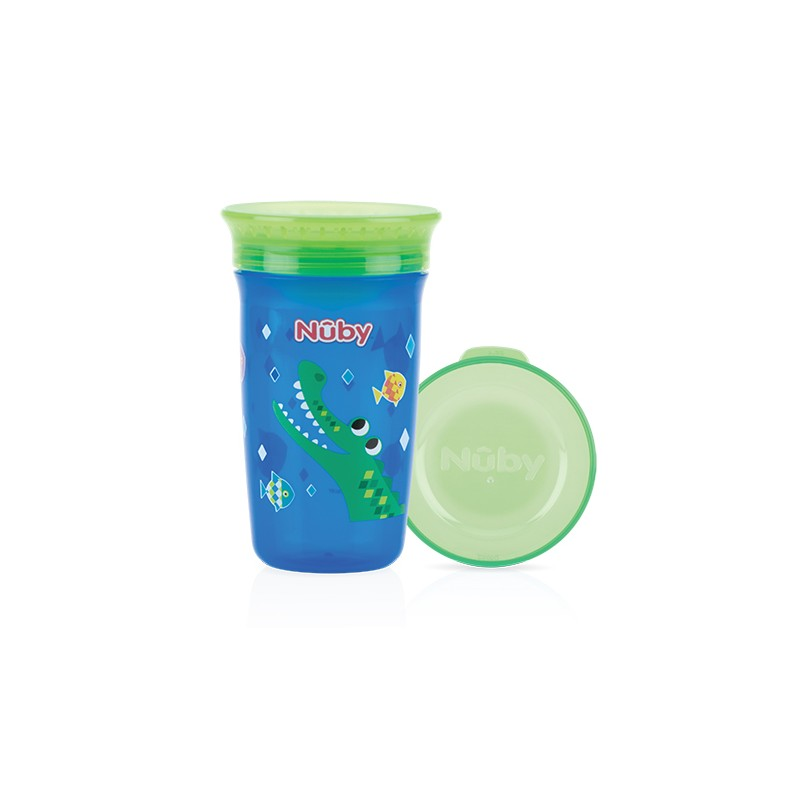 Nuby Wonder cup 360 decorat 300ml, Albastru