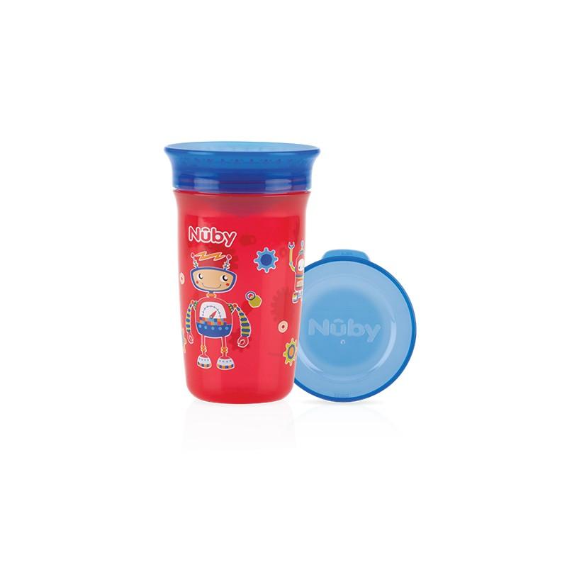 Nuby Wonder cup 360 decorat 300ml, Rosu