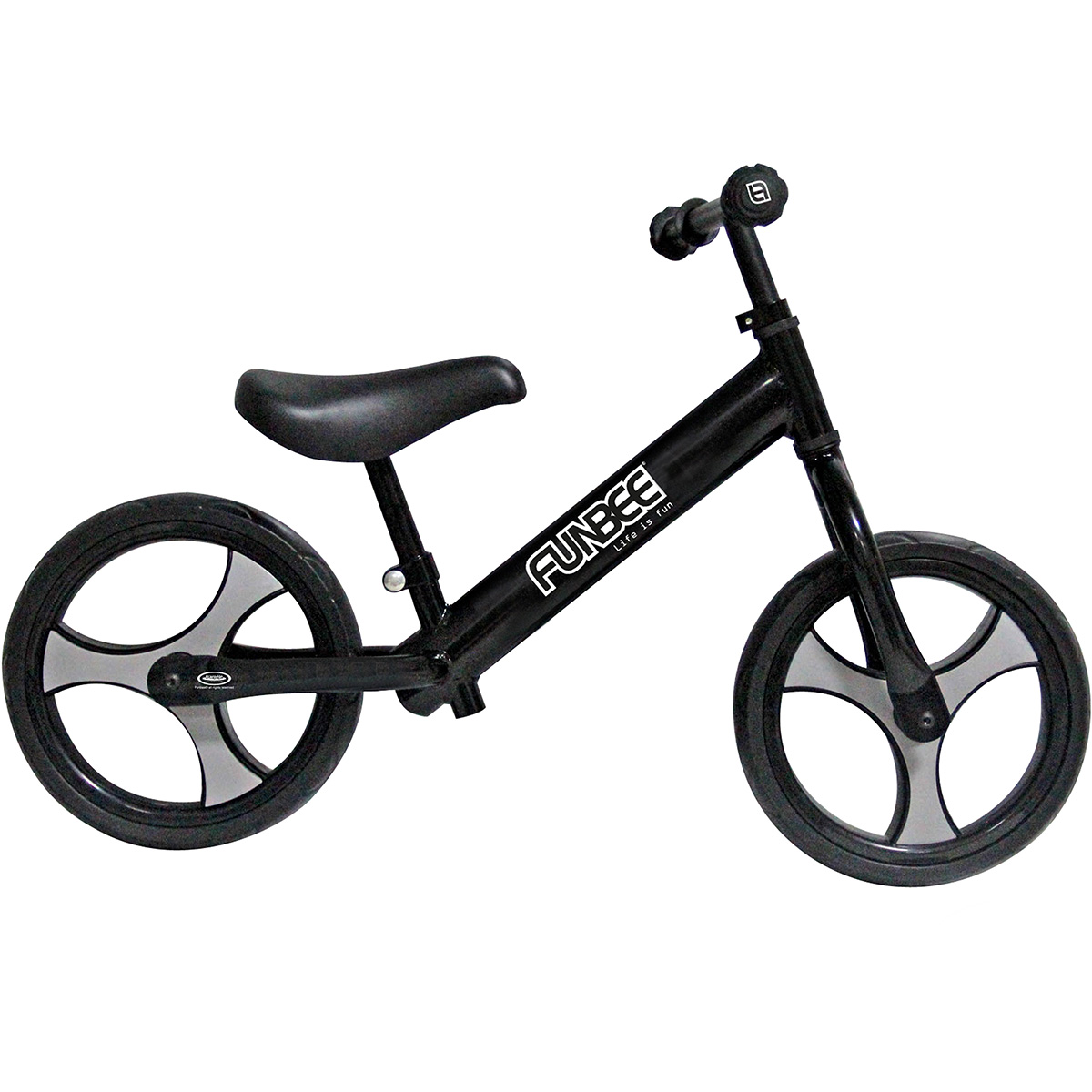 Bicicleta vintage fara pedale Funbee, Negru, 12 inch