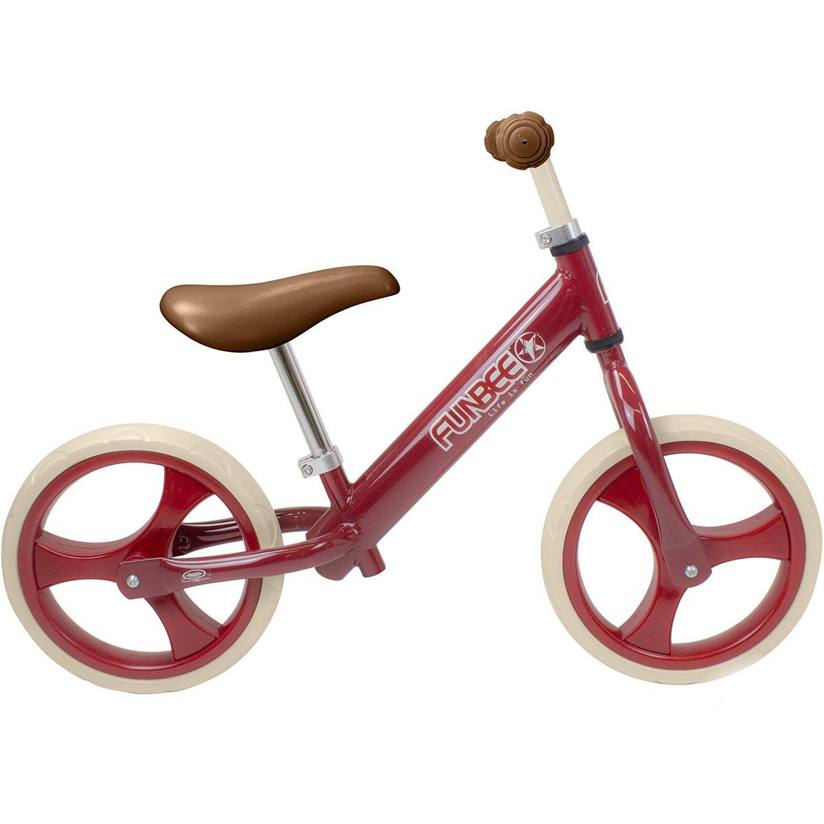 Bicicleta vintage fara pedale Funbee, Rosu, 12 inch
