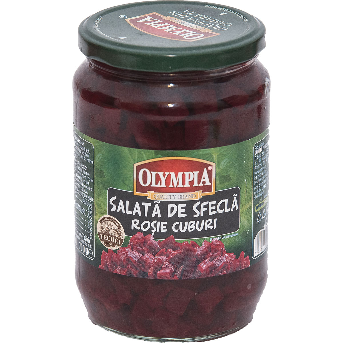 Salata de sfecla rosie Olympia, 720 gr imagine
