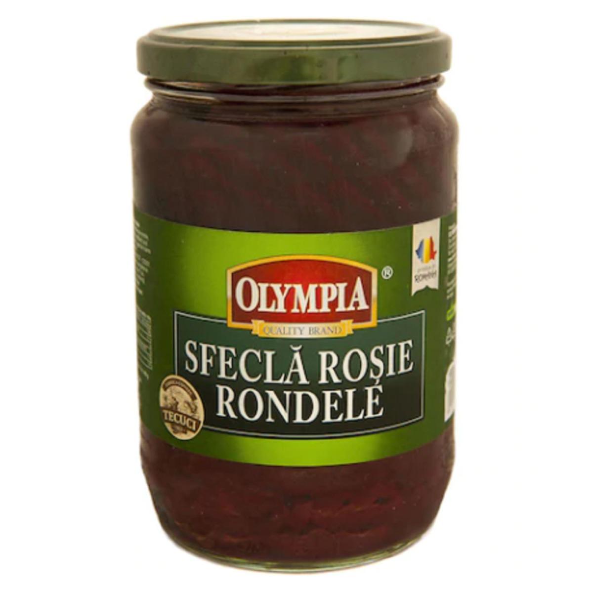 Salata de sfecla rosie rondele Olympia, 680 gr imagine
