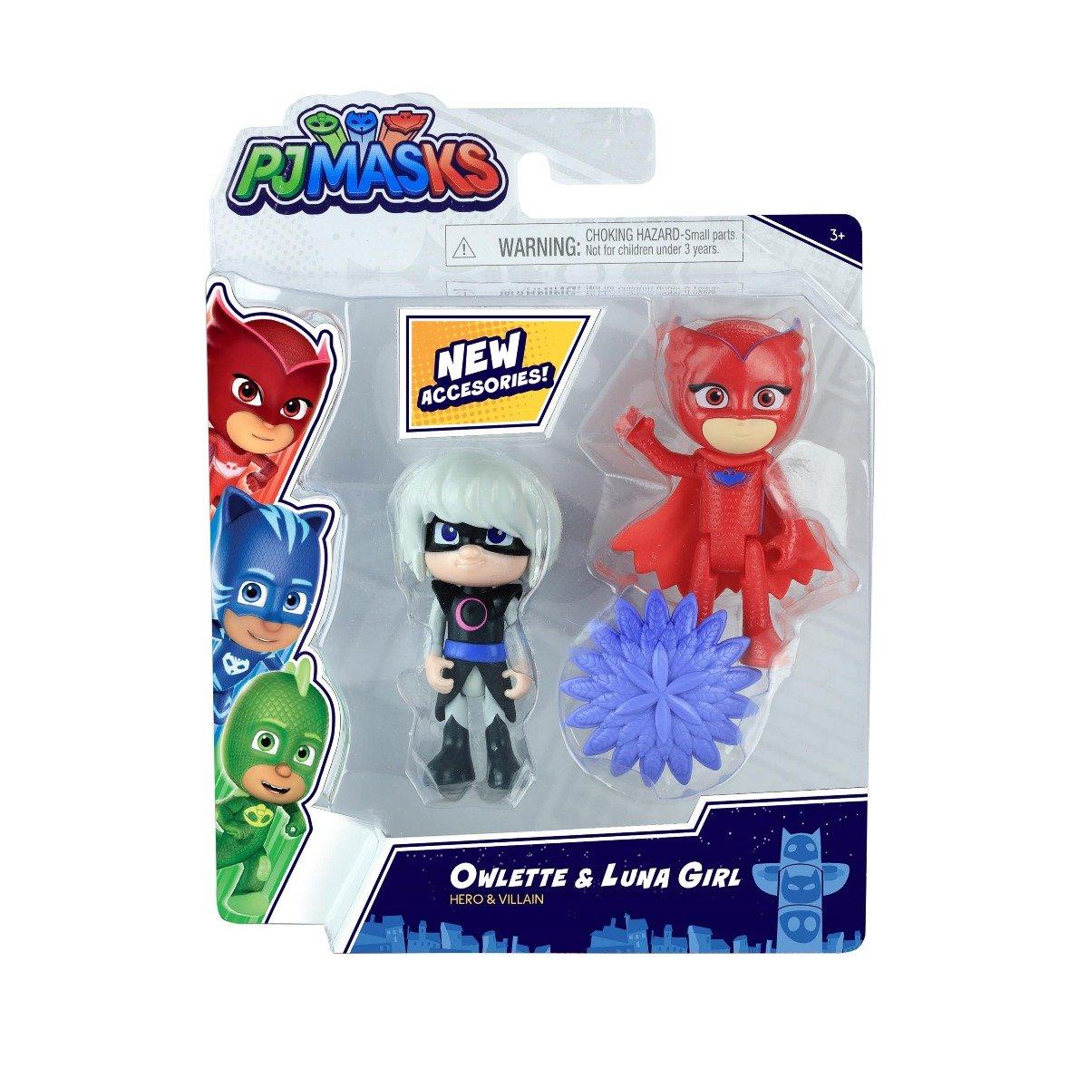 Set figurine Pj Masks Hero and Villain, Owlette si Luna Girl 95777