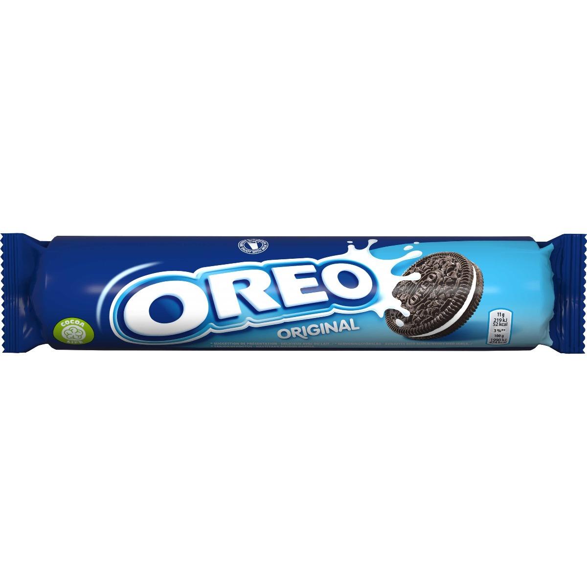 Biscuiti cu crema de vanilie Oreo Original, 154 g imagine