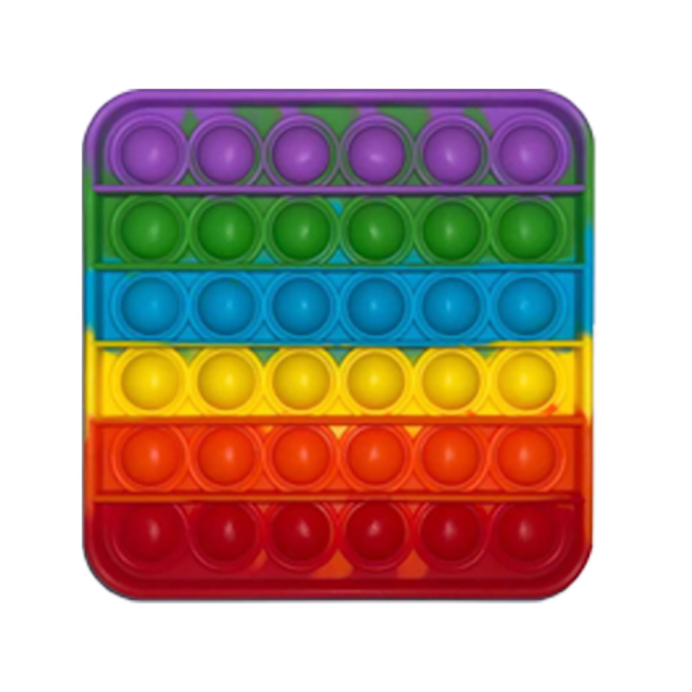 Jucarie antistres Pop It Now, Forma patrata, Multicolor