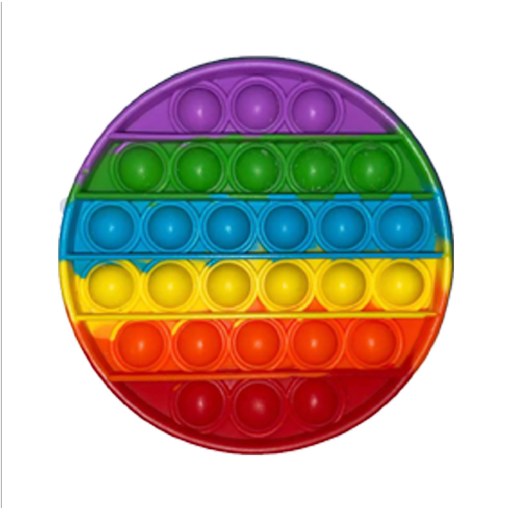Jucarie antistres Pop It Now, Forma rotunda, Multicolor