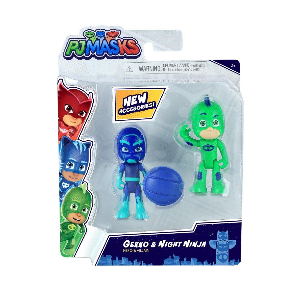 Set figurine Pj Masks Hero and Villain, Gekko si Night Ninja 95778