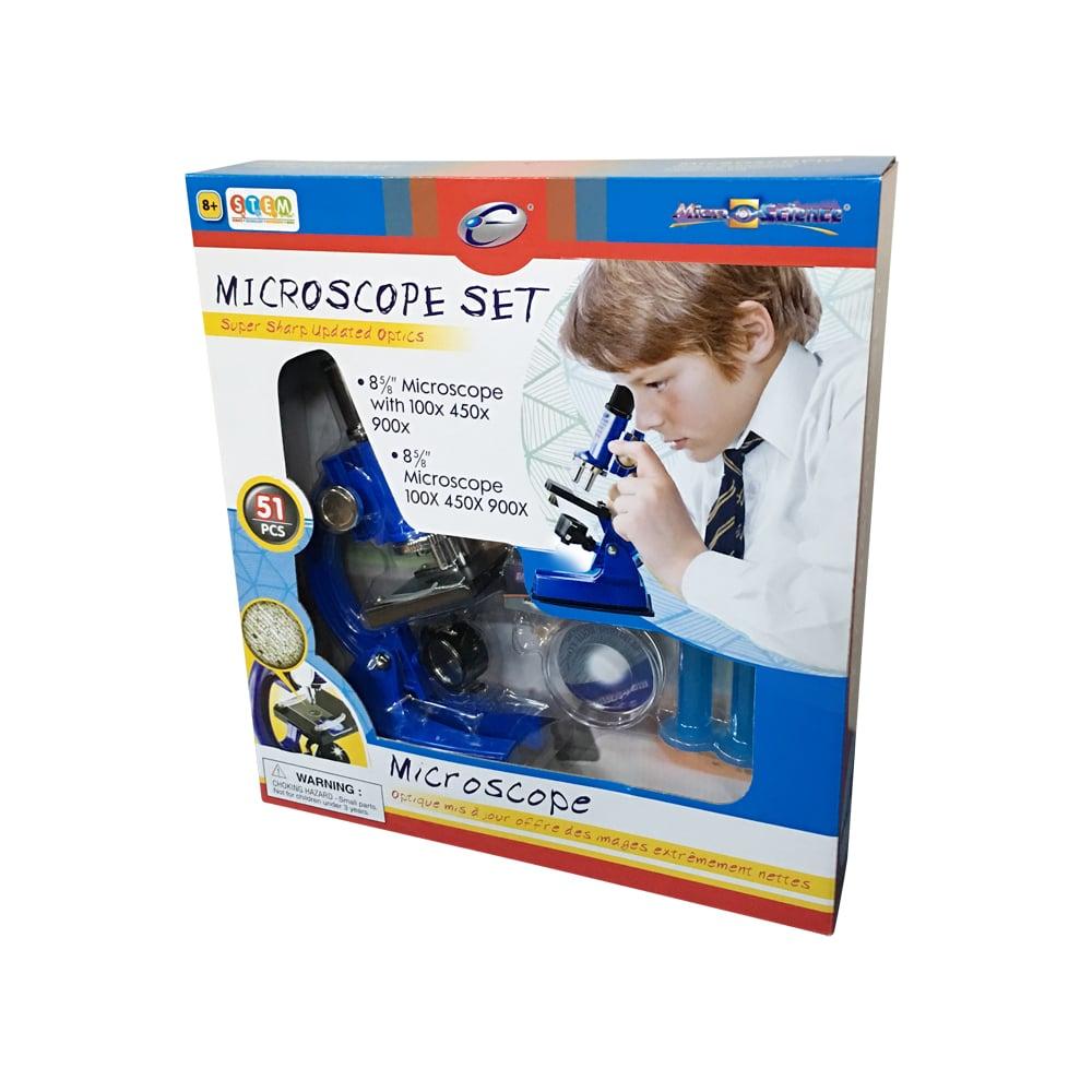 Set Eastcolight Microscop 100/450/900X, 51 piese
