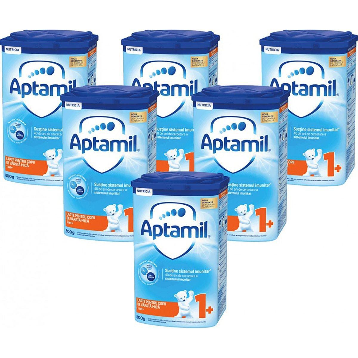Lapte praf Aptamil Junior 1+, 6 pachete x 800 g imagine