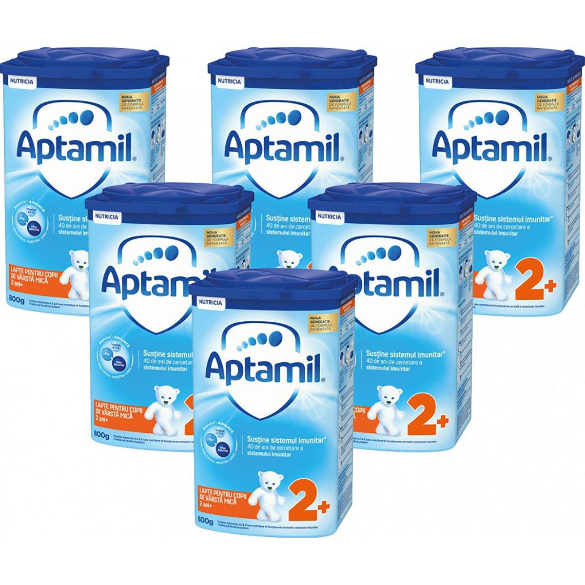 Lapte praf Aptamil Junior 2+, 6 pachete x 800 g imagine