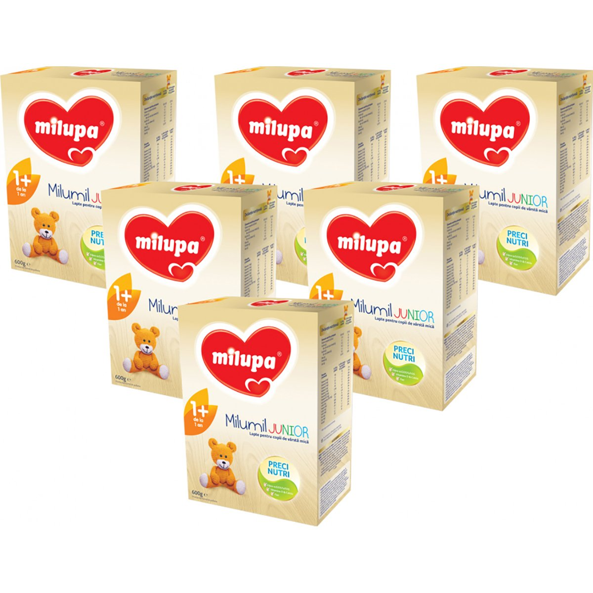 Lapte praf Milupa Milumil Junior 1+, 6 pachete x 600 g imagine